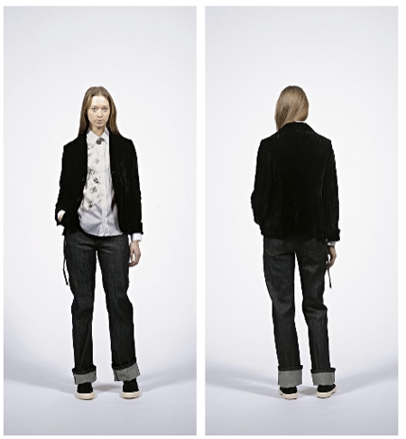 velvet blazer from Coming Soon by Yohji Yamamoto