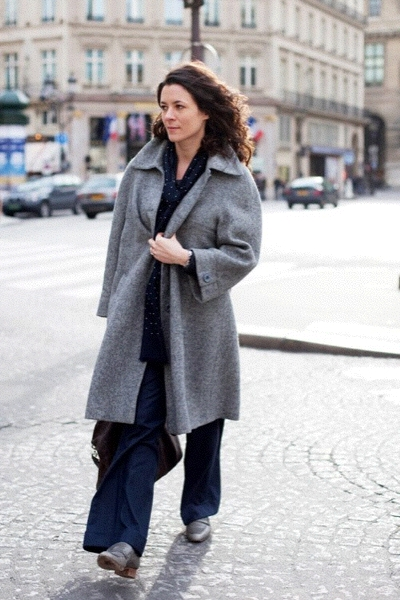 garancedore.fr is my favorite street style blog.  She captures the efffortlessly chic,  often dressed in Isabel Marant,  on the streets of Paris.  Here's M. Dore herself on the beat,  photographed by the Sartorialist.